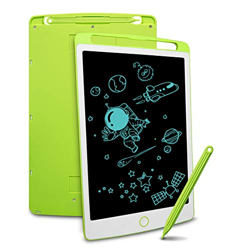 Richgv LCD Writing Tablet, Electronic Graphic Tablet, Writing & Drawing Doodle Board for Home, School,Office, Green, 8.5 inches