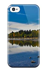 Hard Plastic Iphone 4/4s Case Back Cover,hot Lake Earth Nature Lake Case At Perfect Diy by lolosakes