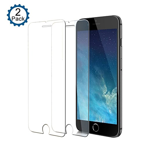 [2 Pack] CTREEY iPhone 8 Plus, iPhone 7 Plus Screen Protector, Premium HD Hard Tempered Glass Ultra Clear Shatter Proof Screen Protector for Apple iPhone 7 Plus, iPhone 8 Plus (Clear)