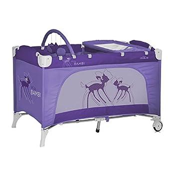 Lit parapluie à 2 niveaux avec matelas+table à langer et étagère pour  vêtement 54452f85135b