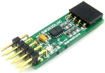 Waveshare LSM303DLHC Board E-compass 3D Accelerometer Magnetometer Development Board Module Kit