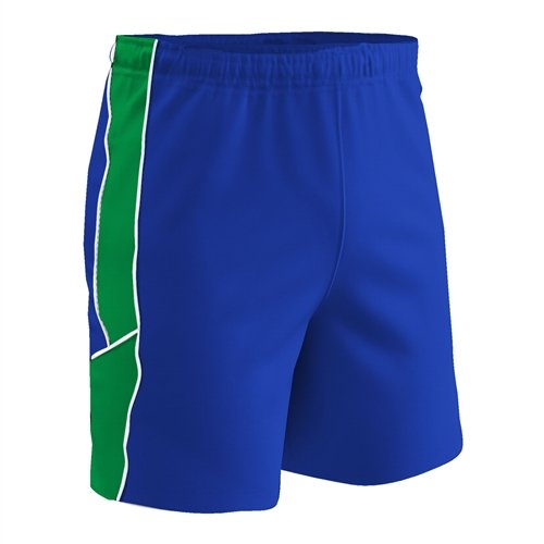 CHAMPRO Adult Lightweight Soccer Shorts, Royal/Neon Green/White, X-Large