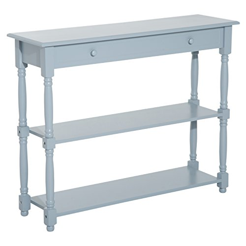 "HOMCOM 40"" Wood Entryway Console Table - Grey"