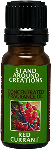 Concentrated Fragrance Oil - Red Currant - A punchy note of tart red currant blended w/green and floral notes of jasmine, and geranium.Infused w/essential oils. (.33 fl.oz.)