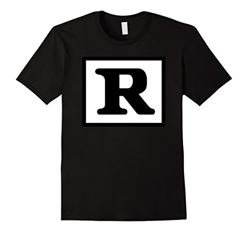 - Mens Rated R Restricted T Shirt XL Black