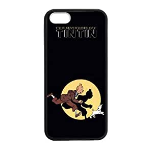 iPhone 5 Case, [the adventures of tintin] iPhone 5,5s Case Custom Durable Case Cover for iPhone5s TPU case (Laser Technology)