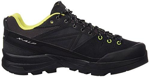 Salomon Men's X Alp LTR Low Rise Hiking Boots, Black Gris (Asphalt / Black / Gecko Green)