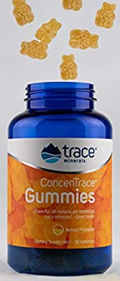 Concentrace Trace Mineral Gummies, Gummy Bears, All Natural, PH-Balancing, Magnesium, Chloride.