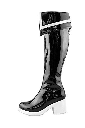 Mtxc Men's Black Rock Shooter Cosplay Black Boots-OVA Ver...
