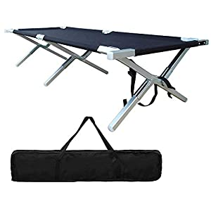 Folding Camping Cot – Portable Outdoor Camping Bed Heavy Duty Military Grade Aluminum Camping Cot Easy Set Up for Adults…