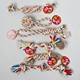DOY TOY ROPE CHEWS 6 ASSORTED STYLES/MULTI-COLOR IN PDQ, Case Pack of 72