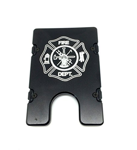 Aluminum Wallet with RFID Protection Fire Dept fireman (b...