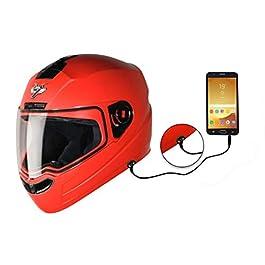 Steelbird SBA-1 7Wings HF Dashing Full Face Helmet with Plain Visor and Detachable Handsfree Device (MEDIUM 580 MM SLIM…