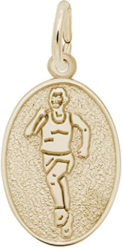 Rembrandt Runner Oval Charm - Metal - 14K Yellow Gold (Gold 14k Runner Charm)