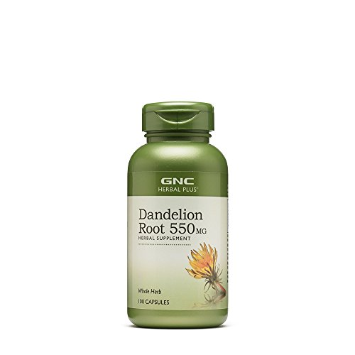 GNC Herbal Plus Dandelion Root 550mg, Capsules, 100 ea