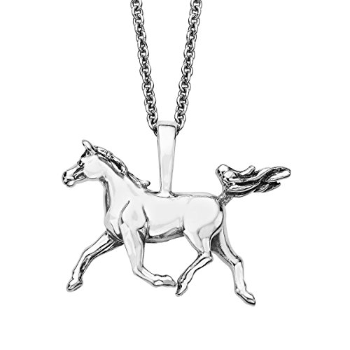 Kabana Horse Pendant Necklace in Sterling Silver ()