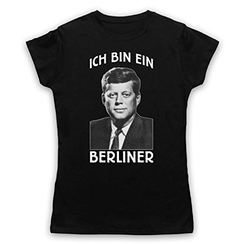JFK Ich Bin Ein Berliner Camiseta para Mujer Negro