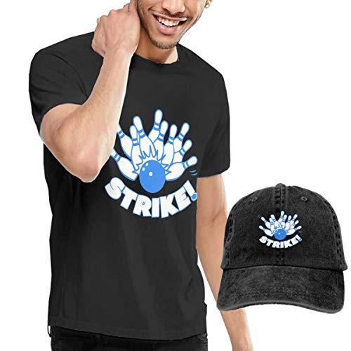 MF SFLK Bowling Strike Men's Short Sleeve T-Shirts & Baseball Caps Hats