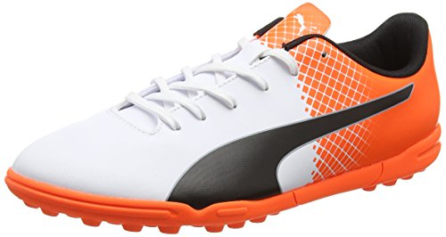 Puma evoSpeed 5,5 TT Botas de Fútbol, Puma/Black/White Puma Shocking Orange, 12
