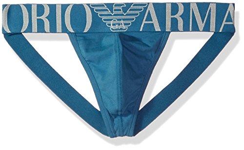 Emporio Armani Men's Stretch Cotton Megalogo Jockstrap, Cadet Blue, XL by Emporio Armani