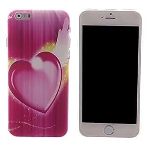 HJZ Pink Heart Shape Design PC Hard Case for iPhone 6 Plus
