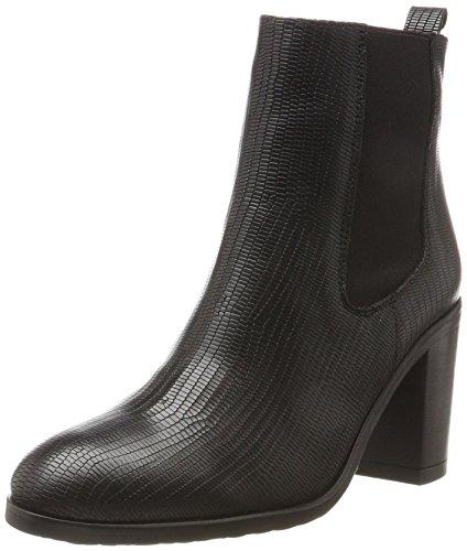 Fred de la Bretoniere Ankle Boot Chealsea mit Blockabsatz, Stivali Donna Nero (Nero)