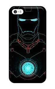 3561129K31515005 Awesome Defender Tpu Hard Case Cover For Iphone 5/5s- Iron Man