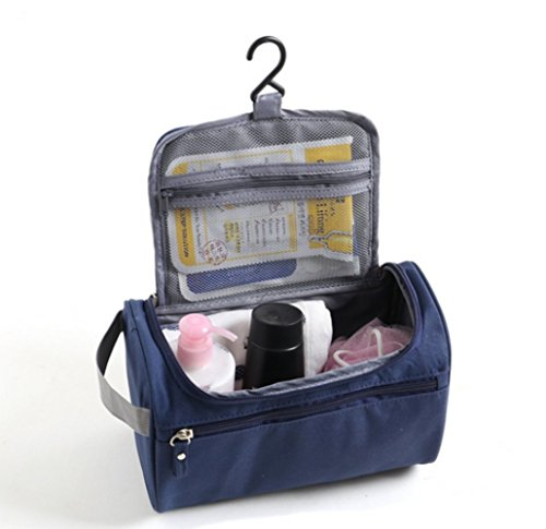 Jungle Makeup Kit (ONEGenug Toiletry Bag Overnight Wash Bag Hanging Gym Shaving Bag for Men and Women Ladies Travel Blue)