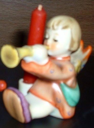 Hummel Heavenly Angel - Joyous News Hummel Angel with Trumpet and Candle holder