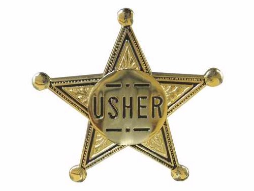 Swanson Christian Supply 80573 Badge Usher Pin Back 2 In. Gold Star Metal