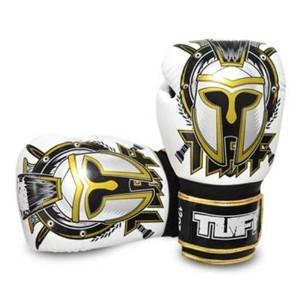 Gladiator Boxing Glove (Tuff Muaythai Boxing Training Gloves Gladiator White Leather Free Express Ship (14OZ))