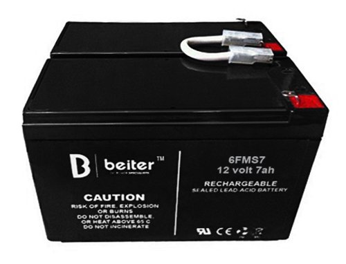 Beiter DC Power APC BACK-UPS BR1500LCD 1500VA Replacement Battery kit of 2 Includes Connector