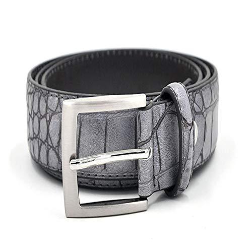 Mens Waist Belts Faux Crocodile Pattern Belts With Split Leather Luxury Crocodile Belt