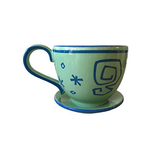 Disney Parks Mad Tea Party Ride Green Teacup Ceramic Mug NEW