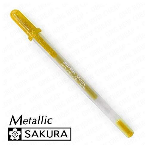 (Sakura Metallic - Medium Gelly Roll Pen - Single - Gold #551)