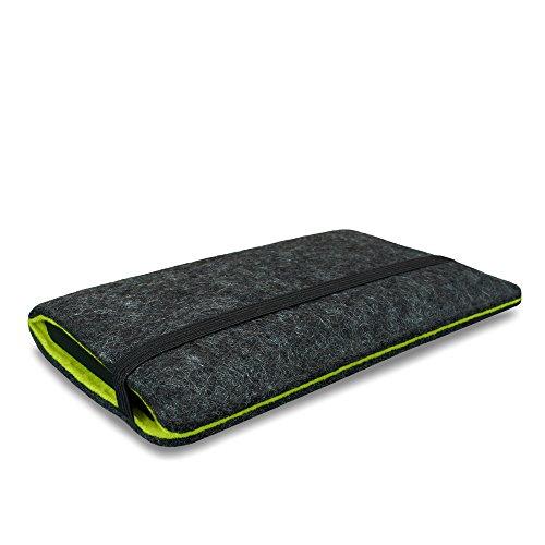 Stilbag Filztasche 'FINN' für Apple iPhone 6 - Farbe: anthrazit/apfelgrün