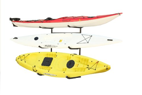 Sparehand Catalina Plus Freestanding Triple Storage Rack for 3 Kayaks or Canoes ()