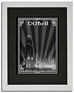 Address Hotel Down Town- Black And White With Silver Border F02-m (a2) - Framed