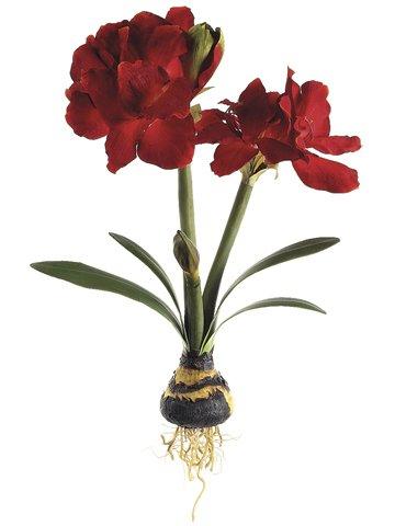 Amazon 24 handwrapped silk amaryllis wbulb flower spray red 24quot handwrapped silk amaryllis wbulb flower spray red case mightylinksfo