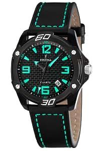 FESTINA F16491/4 - Reloj unisex de cuarzo, correa de piel color negro