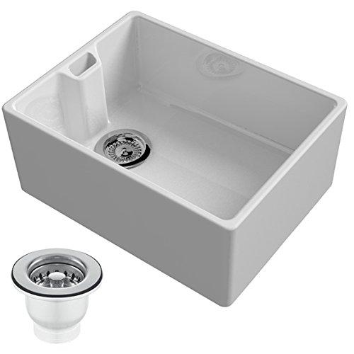 Reginox Belfast 600mm 1.0 Bowl Ceramic Kitchen Sink & Waste In ...