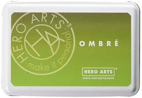 Hero Arts Ombre Ink Pad, Lime to Forever Green ()