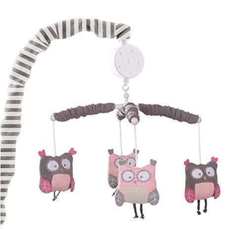 Levtex Baby Lullabies Night Owl Mobile- Pink by Levtex