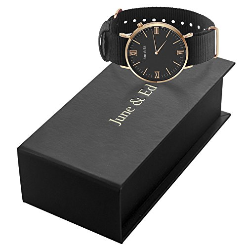 June-Ed-Quartz-Stainless-Steel-Mens-Watch-with-Sapphire-Crystal-Dial-Window-Black