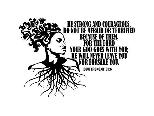 EvelynDavid Black Woman Flowers Hair Root God Quotes Stylish Princess Diva Queen African American Female Sticker Vinyl Decal Vector Clipart Digital Circuit Cut - God Clipart