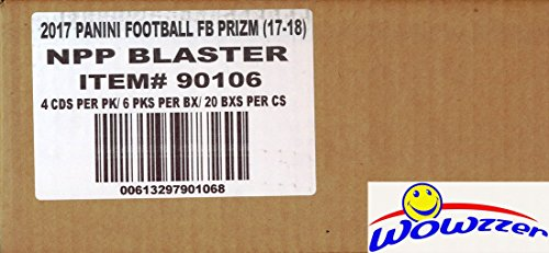 2017 Panini Prizm NFL Football EXCLUSIVE Factory Sealed 20 Box Blaster CASE Box with 20 AUTOGRAPH or MEMORABILIA Cards ! Look for Rookies & Autographs of Deshaun Watson, Kareem Hunt & Many More!