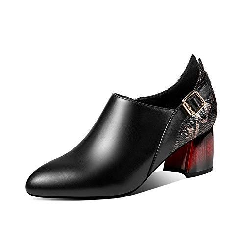 Color Encantadoras Solo Cinturón Hebilla 2019 La Pistola Puntiagudas Mujeres Serpiente Cuero Glter Zapatos Tacones De Altos gBFFOw
