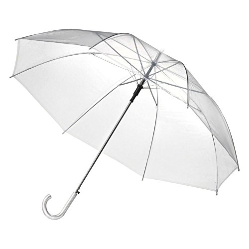 ESHOO Useful Transparent Clear Automatic Umbrella Wedding Party Favor
