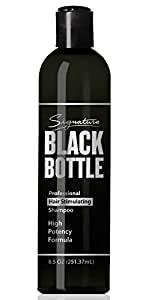 Black Bottle Mens Ketoconazole Shampoo - Anti Hair Loss Shampoo For Men -Promotes Hair Growth in Men - DHT Blocker Saw Palmetto Hair Loss Help - (Caffeine & Biotin + Essential Oils ) - 8.5oz
