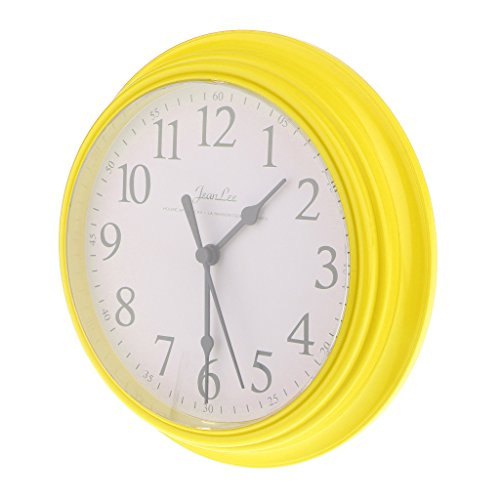Homyl 9 inch Silent Universal Round Wall Clock - AA Battery Operated - Colorful Analog Clock